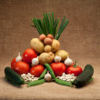 Fresh seasonal vegetables — Stock Photo