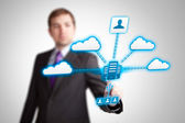Cloud service applications, networking — Stock Photo