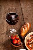 Almoço com vinho — Foto Stock