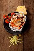 Prato com carne — Foto Stock