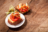 Sandwich with tomato — Stock Photo