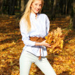 Girl in autumn - Stock Photo