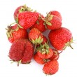 Ripe and fresh organic red strawberries — Stock Photo