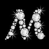 Luxury jewelry alphabet diamonds Z — Stock Photo