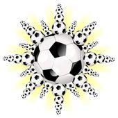 Soccer football star — Stock Photo