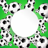 Soccer poster — Stock Photo