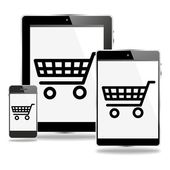Mcommerce mobile devices — Stock Photo