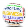 Stock Vector: BUSINESS INTELLIGENCE