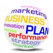 BUSINESS PLAN — Stockvectorbeeld