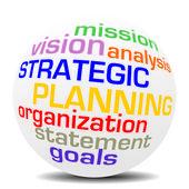 Strategische planning pictogram — Stockvector