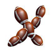 American-Football-Alphabet - Buchstaben Schriften X — Stockfoto
