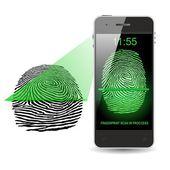 SMARTPHONE FINGERPRINT SCAN — Zdjęcie stockowe