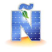 Solar panels texture, alphabet capital letter Ñ icon or symbol — Stock Photo