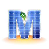 Solar panels texture, alphabet capital letter M icon or symbol — Stock Photo