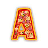 PIZZA alphabet - LETTER A — Stock Photo