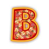 PIZZA alphabet - LETTER B — Stock Photo