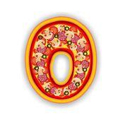 PIZZA alphabet - LETTER O — Stock Photo