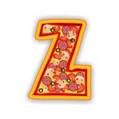 PIZZA alphabet - LETTER Z — Stock Photo