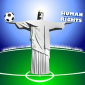 HUMAN RIGHTS and SOCCER — Stock Photo