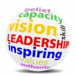 LEADERSHIP - wordcloud - SPHERE — Stockfoto