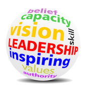 LEADERSHIP - wordcloud - SPHERE — Stock Photo