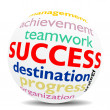SUCCESS - wordcloud - SPHERE — Foto de Stock