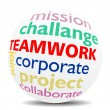Stock Photo: TEAMWORK - wordcloud - SPHERE