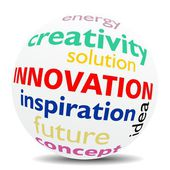 INNOVATION - wordcloud - SPHERE — Stock Photo