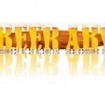 Постер, плакат: BEER ALPHABET letters BEER ABV