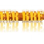 Постер, плакат: BEER ALPHABET letters BEER BREW