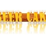 Постер, плакат: BEER ALPHABET letters BEER CAKE