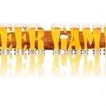 Постер, плакат: BEER ALPHABET letters BEER GAMES