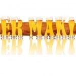Постер, плакат: BEER ALPHABET letters BEER MAKING