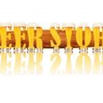 Постер, плакат: BEER ALPHABET letters BEER STORE