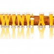 Постер, плакат: BEER ALPHABET letters BREWING A BEER
