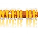 Постер, плакат: BEER ALPHABET letters GINGER BEER