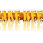 Постер, плакат: BEER ALPHABET letters MAKE BEER