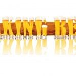 Постер, плакат: BEER ALPHABET letters MAKING BEER