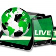 mobile tv soccer — Stock Photo #31056571