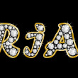 The name Brian spelled in bling diamonds, with shiny, brilliant golden frame — Stock Photo #31652115