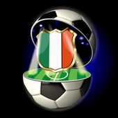 Open soccer ball with crest of Italy — Stock Photo