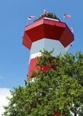 Faro de la ciudad puerto en el hilton head, sc — Foto de Stock