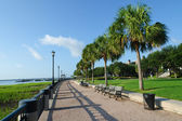 Waterfront park in Charleston, SC — Stock Photo