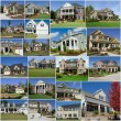 Stock Photo: Suburban houses collage