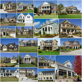 Suburban houses collage — Stock Photo
