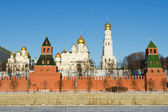 View on Moscow's Kremlin in winter — Stock fotografie