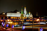 Night view on Moscow Kremlin in winter — Stock Photo