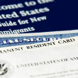 US immigration documents closeup — Stockfoto