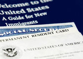 US immigration documents closeup — Foto de Stock