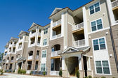 New apartment building in suburban area — Stock Photo